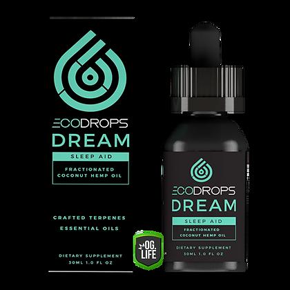 EcoDrops DREAM Sleep Aid Fractionated Coconut Hemp Oil