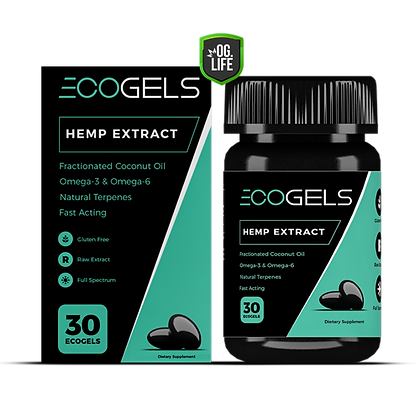 Eco Gels Hemp Extract 30 Capsules BOTTLE