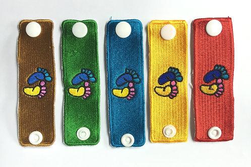 Embroidery Footprint Woggle/Neckerchief Slide WK07