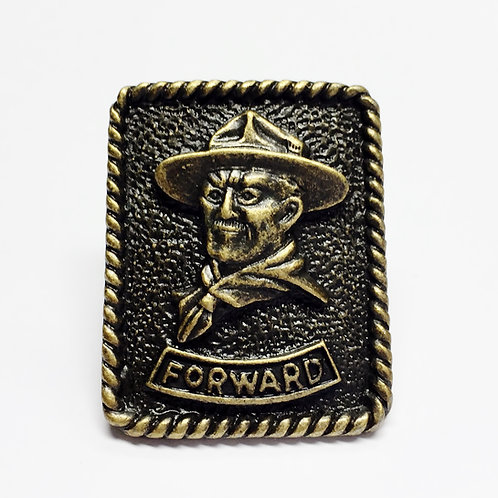 Baden Powell-Forwar Woggle/Neckerchief Slide WK102