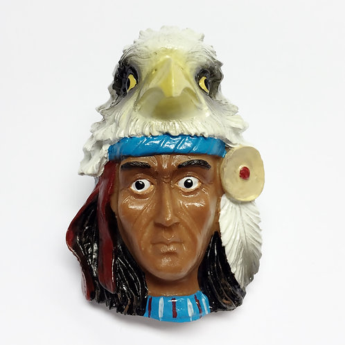 Indian with Eagle Woggle/Neckerchief Slide WK78