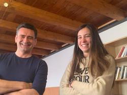 Mark Padellini con Giulia Saguatti - schiacciatrice Omag Consolini