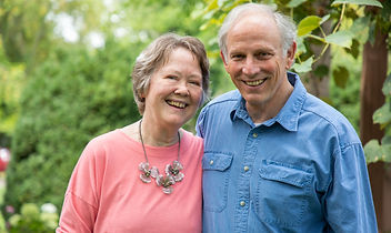 Sam Edney portrait with his wife.