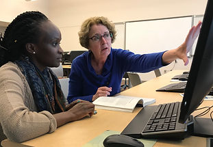 Wendy Ullman teaching a student