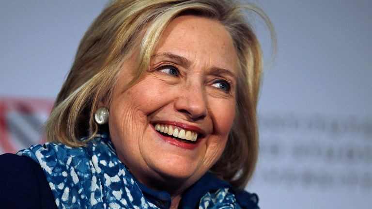 Portrait of Hillary Clinton smiling
