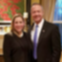 Liuba poses for a photograph with former Governor of Maryland Martin O'Malley