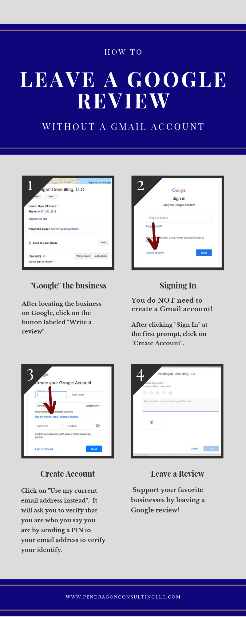 How to Leave a Google Review without a Gmail Account