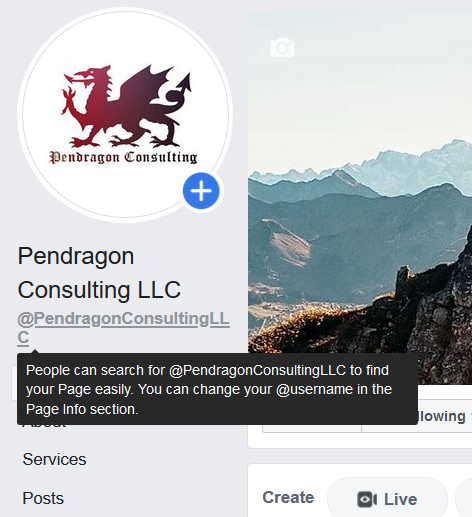 Create a custom username on Facebook