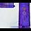 Thumbnail: Purple Silk Messianic prayer Shawl Tallit - printed silk neckband (atara)