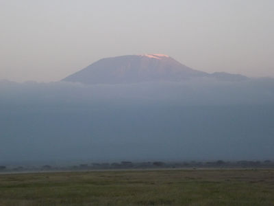 View of Mt. Kilimanjaro from Kenya