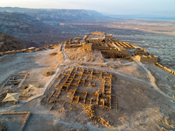 The fortress of Masada in Israel