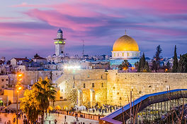 Dome of the Rock and the Western Wall in Jerusalem, Israel