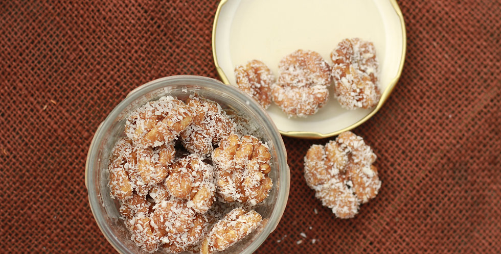 Gur Coated Walnuts with Coconut