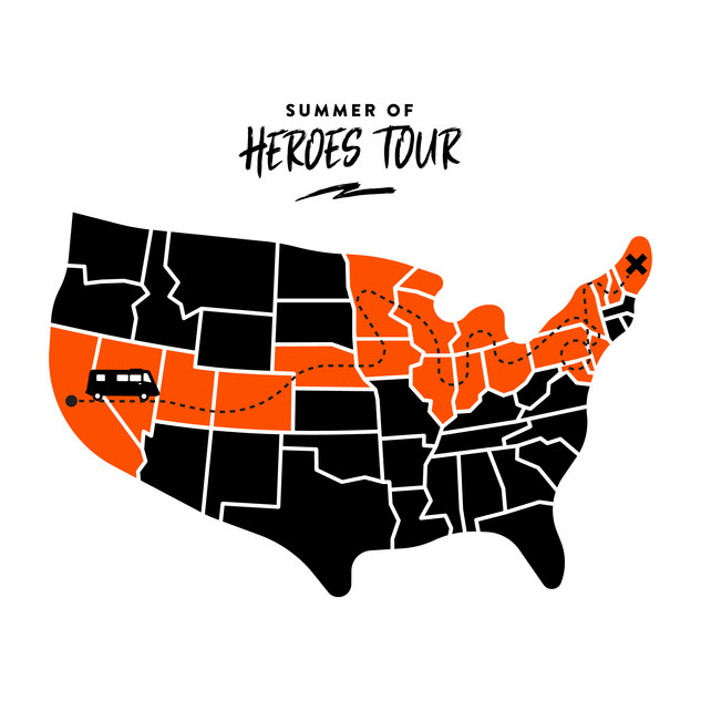 Be A Hero - Summer of Heroes Tour Illustration