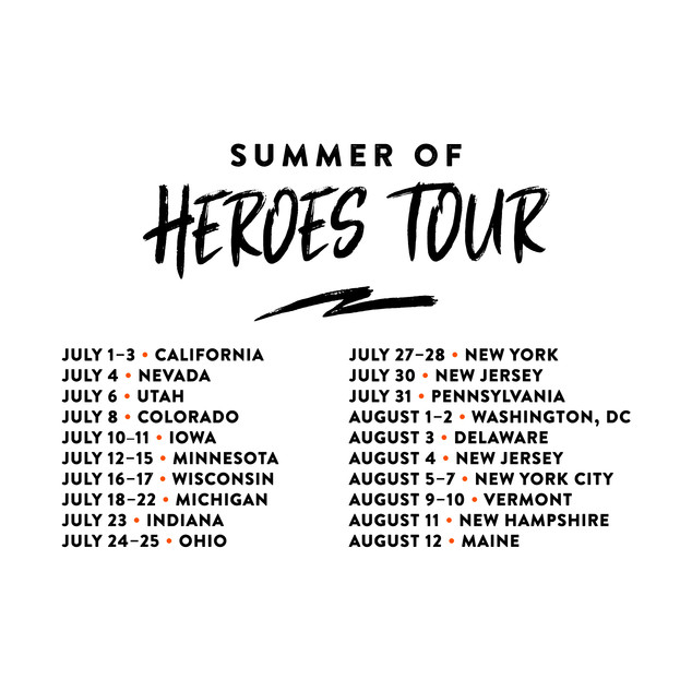 Be A Hero - Summer of Heroes Tour Logo