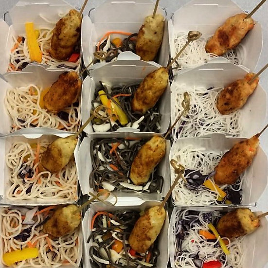 Fish Roasts with Noodles