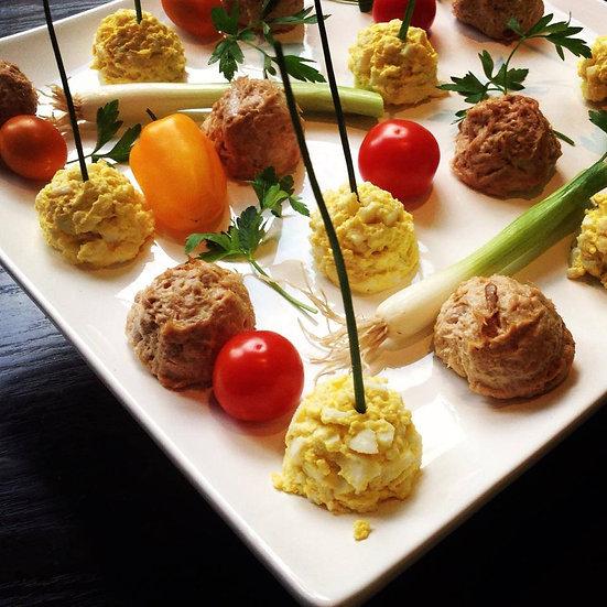 Tuna Balls & Egg Salad