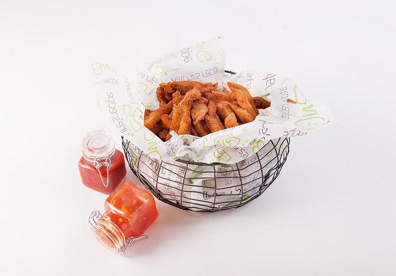 Eggplant Crisps Mini-Basket