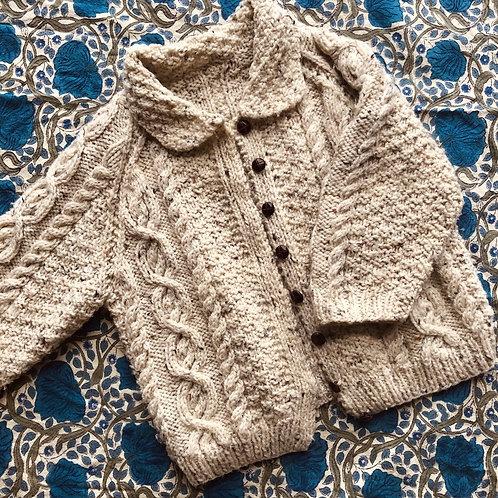 Kids Vintage Chunky Fishermans Knit