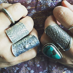 eclectic tribal silver jewellery boho