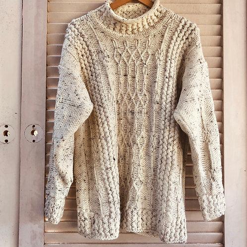 Vintage Donegal Collection Irish Aran Fishermans Knit