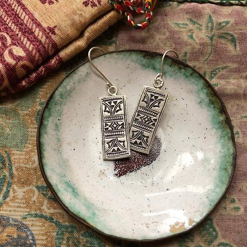 Hilltribe Carved Totem Earrings