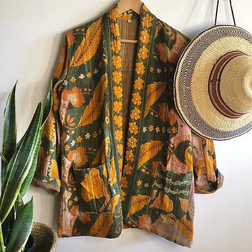 Vintage Kantha Coat  #9 L/XL