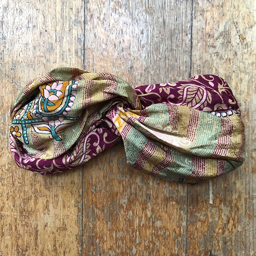 Recycled Indian Sari Headband