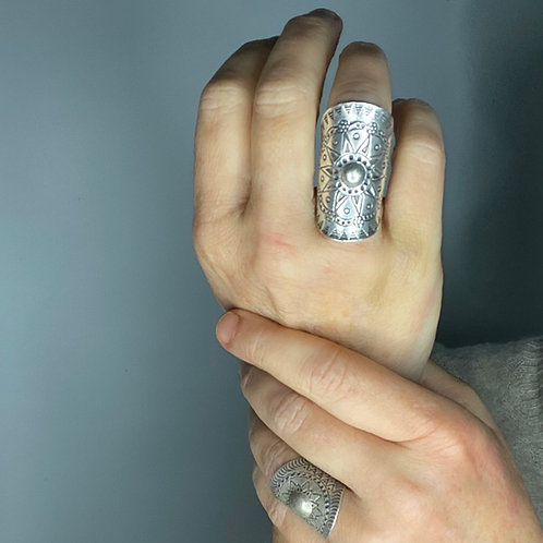 Hilltribe Silver Mandala Ring