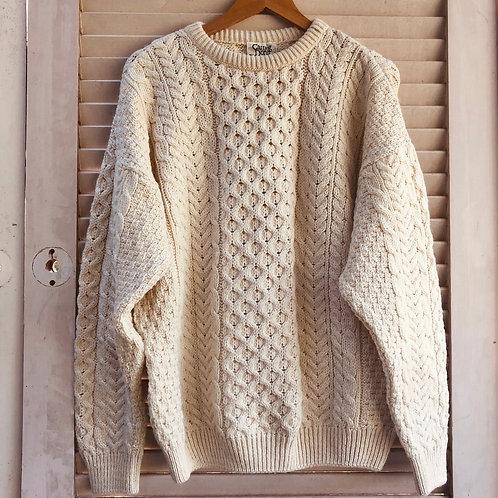 Vintage Carraig Donn  Irish Aran Fishermans Knit