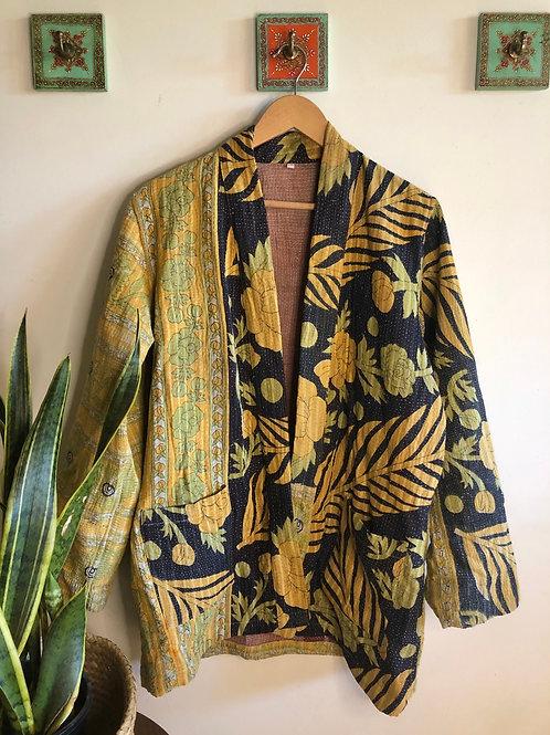 Vintage Kantha Coat  #12 L/XL