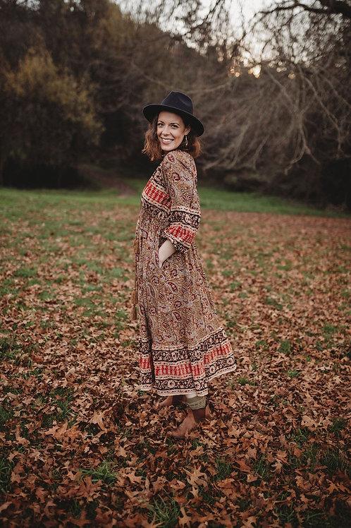 Cedar Paisley Dress *PRE ORDER DELIVERY 20th JUNE*