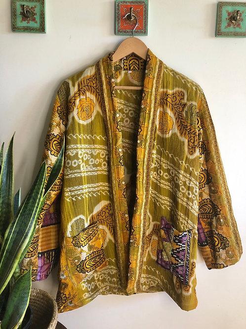 Vintage Kantha Coat  #18 L/XL