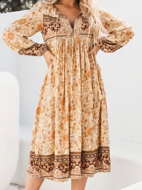 Gypset Midi Dress ~ Marigold