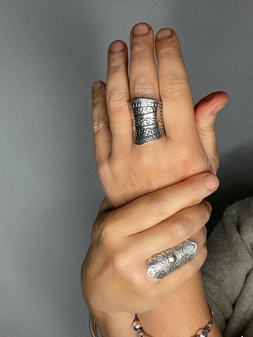 Hilltribe Silver Trio Ring