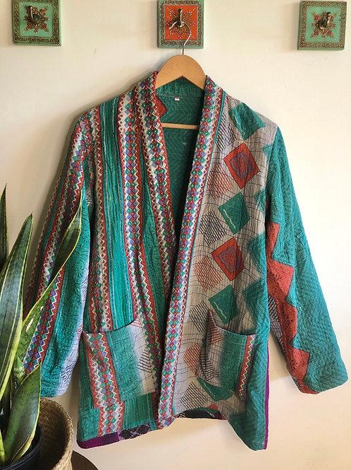 Vintage Kantha Coat  #13 L/XL