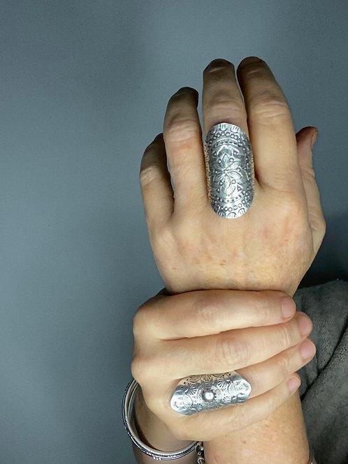 Hilltribe Silver Frangipani Ring