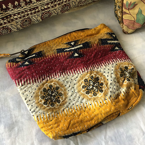 Vintage Kantha Toiletry Bag