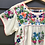 Thumbnail: Fleetwood Folk Blouse ~ Cream with Coloured Embroidery