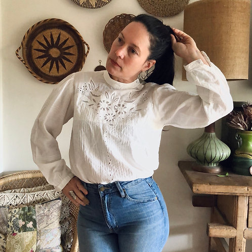 Vintage French Cotton Blouse