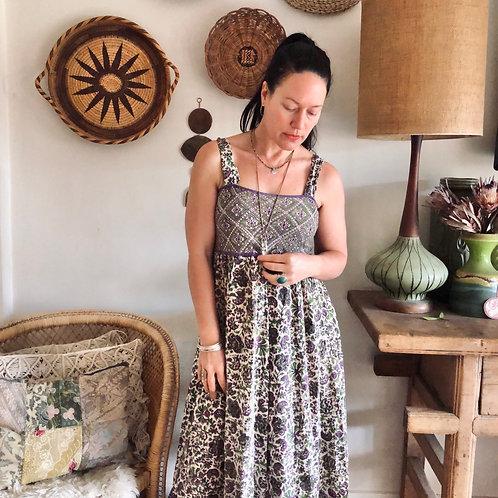 Vintage Original Indian Blockprint Dress