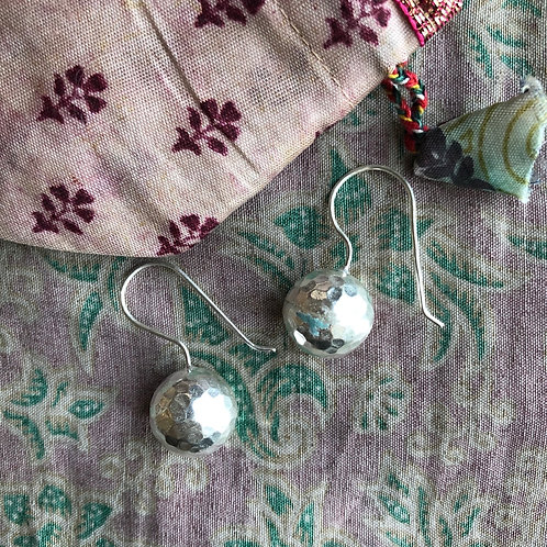 Hilltribe Beaten Silver Earrings