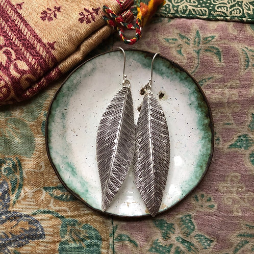 Hilltribe Long Leaf Earrings