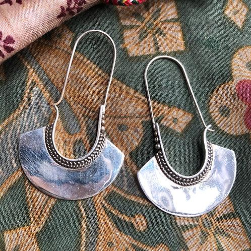 Silver Pharoah Earrings
