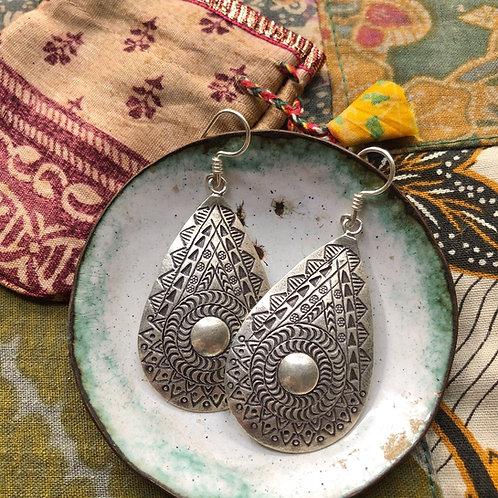 Tribal Teardrop Earrings