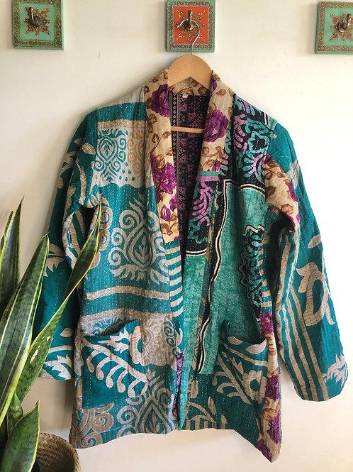 Vintage Kantha Coat  #17 L/XL