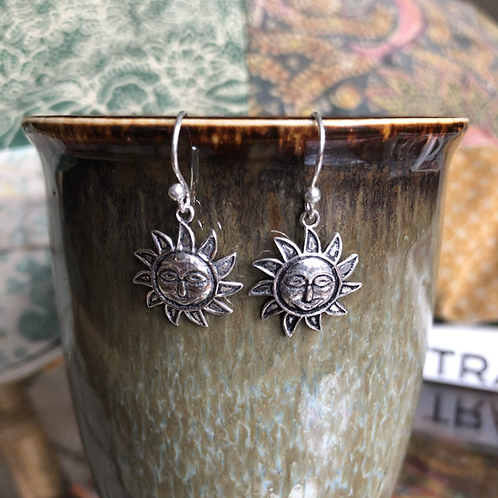 Silver Surya Earrings