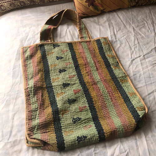 Vintage Kantha Market Bag
