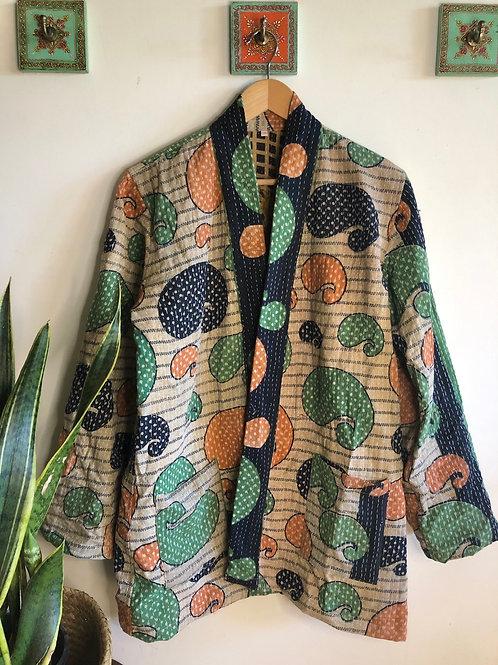Vintage Kantha Coat  #15 L/XL