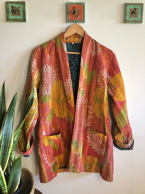 Vintage Kantha Coat  #10 L/XL